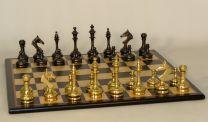 Solid Brass Slim Chess Set