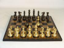 World Wise Solid Brass Staunton Chess Set