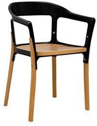 Jasper Steel & Wood Modern Dining Side Chair