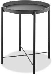 Drake Indoor/Outdoor Steel Side Table  powder-coating finish