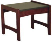 Dakota Wave End Table,  Black Granite-look Top, Mahogany