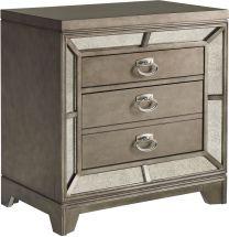 Furniture Lenox Nightstand Silver
