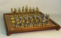 Ital Fama Renaissance Men On Gold Trim Chess Board