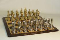 Ital Fama Renaissance Set On Ebony and Birdseye Chess Board