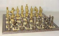 Renaissance Metal Men Chess Set