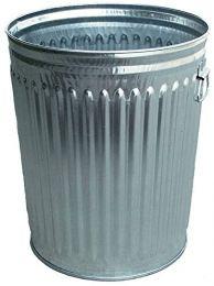 Heavy Duty Galvanized Steel Trash Can 19.5 x 23.5 inch