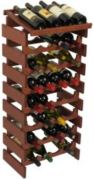 32 Bottle Dakota Wine Rack with Display Top, UN_Unfinished