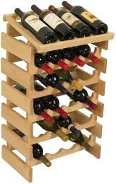24 Bottle Dakota Wine Rack with Display Top, UN_Unfinished
