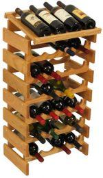 28 Bottle Dakota Wine Rack with Display Top, UN_Unfinished
