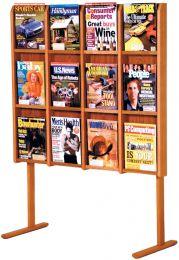 Divulge 12 Magazine Floor Display, Medium Oak