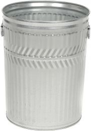 Galvanized Steel Garbage Can, Heavy Duty, 32 Gallon