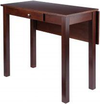 Perrone High Table with Drop Leaf, Walnut Finish