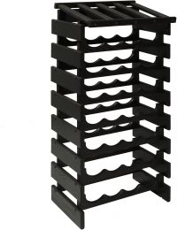 32 Bottle Dakota Wine Rack with Display Top, Black