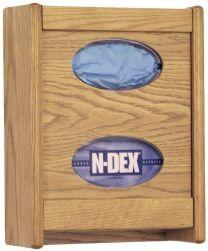2 Pocket Glove/Tissue Box Holder, Mahogany