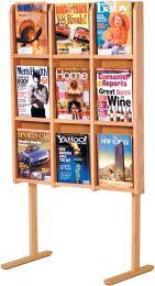 Divulge 9 Magazine Floor Display, Light Oak