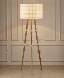 Amber Floor Lamp White..