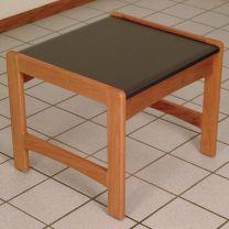 Dakota Wave End Table,  Black Granite-look Top, Medium Oak
