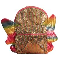 Butterfly Sequin Full Size Deluxe School Bag or Travel Backpack 16 inches