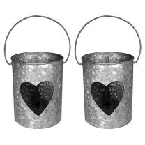 Heart Metal Votive Candle Holders Handmade Candle Holders (Set of 2)