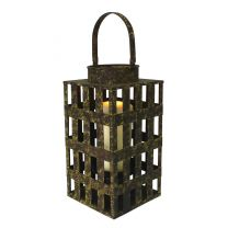 Rustic Hanging Candle Lantern Tempered Glass