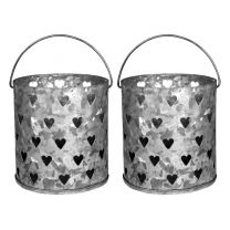 Multiple Heart Metal Votive Holders  (Set of 2)