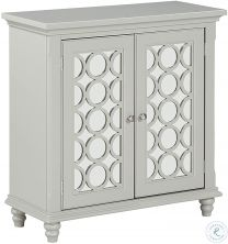 Furniture 2 Door Accent Chest Sage Grey