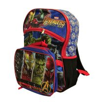 """Avengers Backpack with Lunch Tote Set 16"""" School Bag (SET)"""