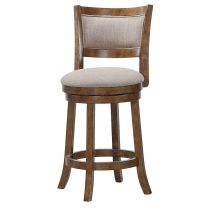 "Furniture Burnt Brown 24"" Swivel Stool"