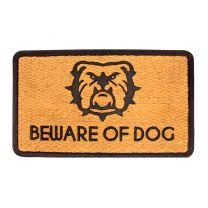 """Beware of Dogs Floor mat Indoor Outdoor Rubber/Coir Size 30"""" x 18"""""""