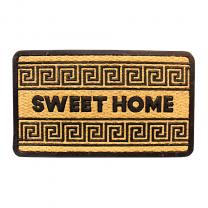"""Sweet Home Floor Mat Indoor Outdoor Rubber/Coir 18""""x30"""""""