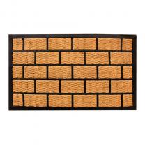 Brick house Floor mat Indoor Outdoor Rubber/Coir Multiple Sizes