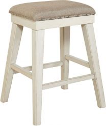 Furniture Mystic Cay Kitchen Island Rectangular Backless Stool in Two Tone