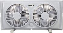 Optimus 7-Inch Twin 2-Speed Window Fan, White