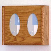 2 Pocket Glove/Tissue Box Holder, Oval, Medium Oak