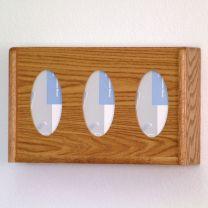 3 Pocket Glove/Tissue Box Holder, Oval, Medium Oak