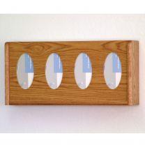 4 Pocket Glove/Tissue Box Holder, Oval, Medium Oak