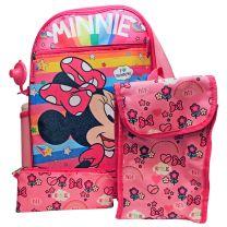 Minnie I Love Rainbows 5 Piece Backpack School Combo Set