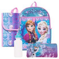 Disney Frozen 5 Piece Backpack School Set - Anna & Elsa