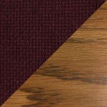 Dakota Wave Single Bench, Cabernet Burgundy, Medium Oak