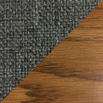 Dakota Wave Single Bench, Charcoal Grey, Medium Oak