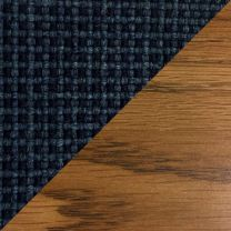 Dakota Wave Single Bench, Powder Blue, Medium Oak