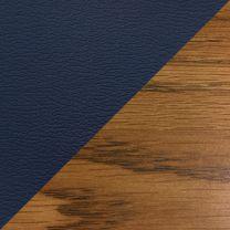 Dakota Wave™ Three Seat Bench, Blue Vinyl, Medium Oak