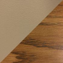 Dakota Wave™ Three Seat Bench, Cream Vinyl, Medium Oak