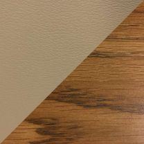 Dakota Wave Single Bench, Cream Vinyl, Medium Oak