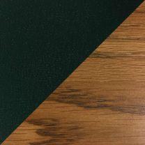 Dakota Wave Single Bench, Green Vinyl, Medium Oak
