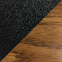 Dakota Wave Single Bench, Black Vinyl, Medium Oak