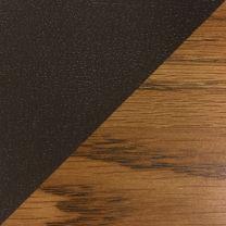 Dakota Wave™ Three Seat Bench, Mocha Vinyl, Medium Oak