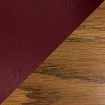 Dakota Wave Single Bench, Wine Vinyl, Medium Oak