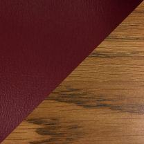 Dakota Wave™ Three Seat Bench, Wine Vinyl, Medium Oak