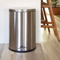 Stainless Steel Fingerprint Resistant Soft Close, Step Trash Can-40L (10.6 Gallons)